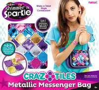 Shimmer 'n Sparkle: Craz Tiles Messenger Bag (Metallic)