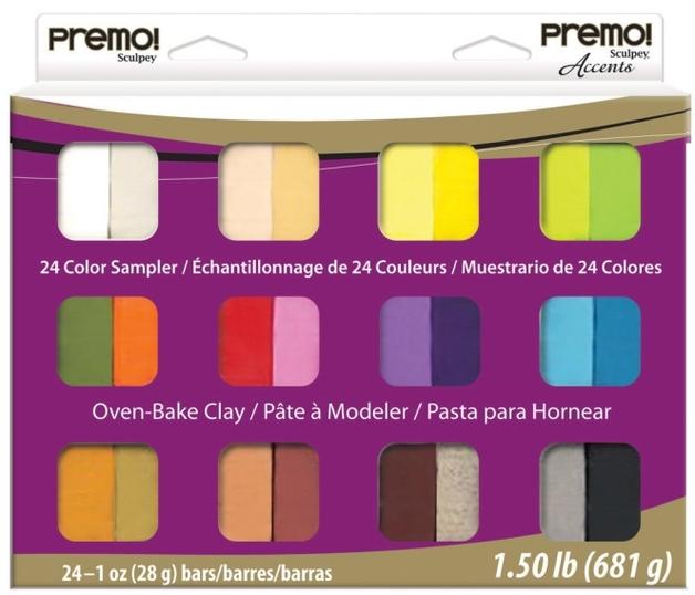 Sculpey Premo/Premo Accent Sampler (Pack Of 24)