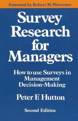 Survey Research for Managers by Peter F. Hutton image