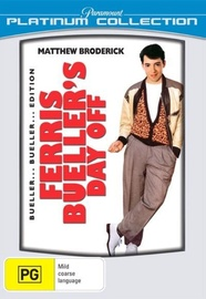 Ferris Bueller's Day Off (Platinum Collection) on DVD