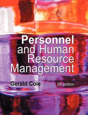 Personnel and Human Resource Management by Gerald Cole image