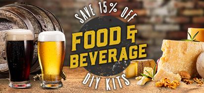 Save 15% off DIY Food & Beverage Kits!