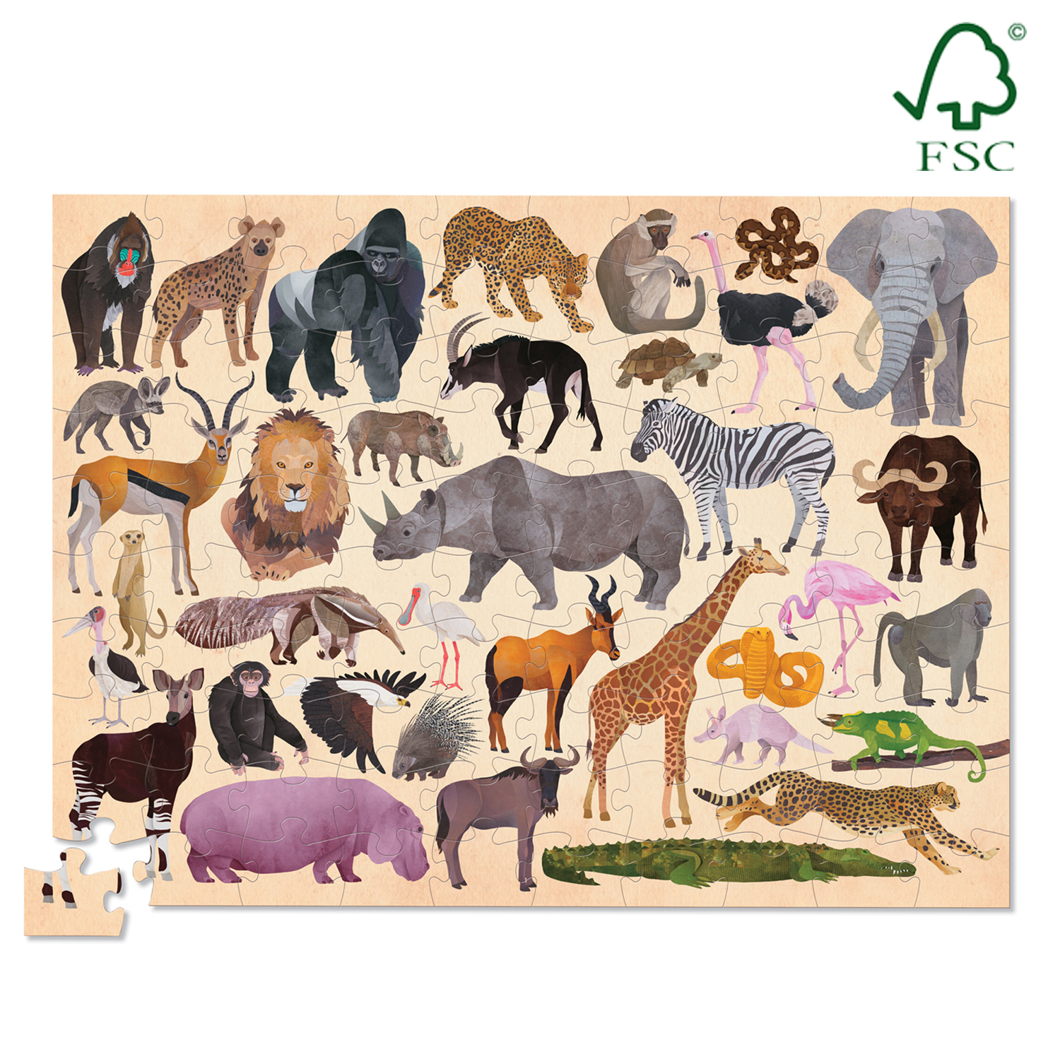Crocodile Creek 36 Animal Wild Animals 100pc image
