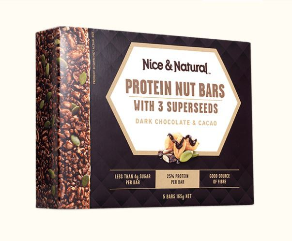 Nice & Natural Protein Nut Bars - Dark Chocolate & Cacao (165g) image