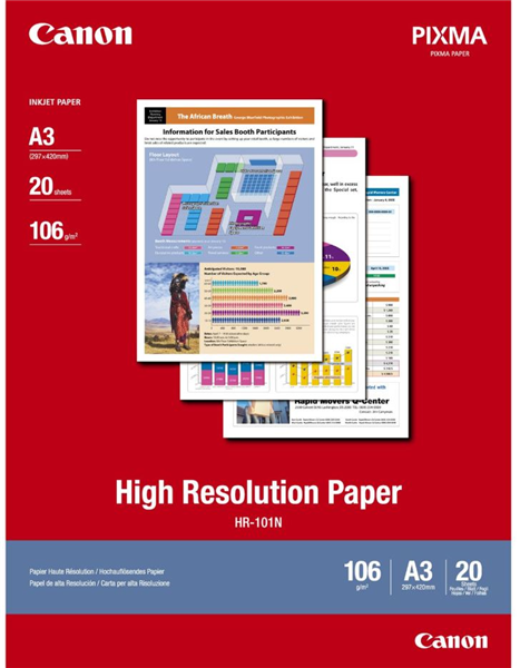 Canon HR-101 A3 High Resolution 110gsm Photo Paper (20 Sheets)