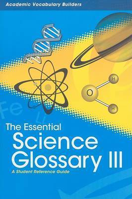Essential Science Glossary 3 by Red Brick Learning