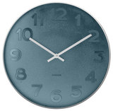 Karlsson Wall Clock - Mr. Blue: Silver Case (Small)