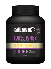 Balance 100% Whey New Formula Protein Powder - Banana (1.5kg)