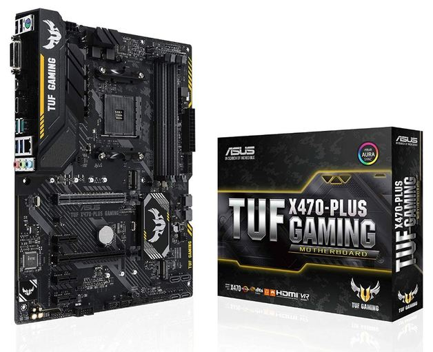 Asus TUF X470-Plus Gaming AMD Ryzen2 AM4 DDR4 Hdmi Dvi M.2 Atx Motherboard
