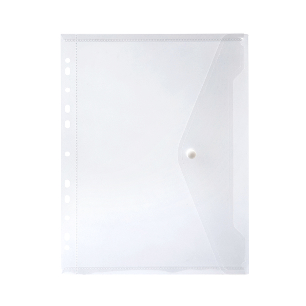 Marbig: Binder Pocket with Button Closure - Clear