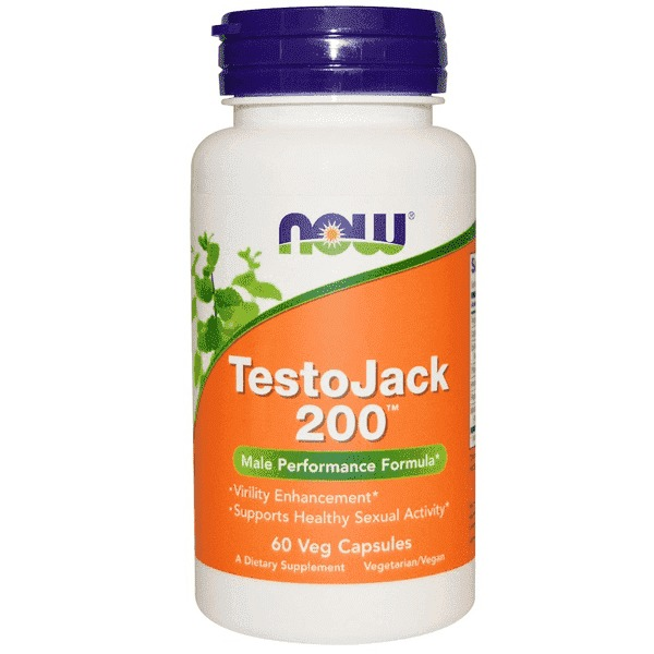 Now Foods TestoJack 200 mg (60 Vege Caps)