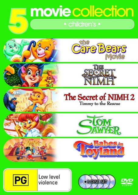 Tom Sawyer/Babes In Toyland/Care Bears/Secret Of Nimh/Secret Of Nimh 2 on DVD