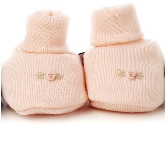 Dimples: Gift Boxed - Merino Pastel Marl Booties - Pink (3-6 Months) image