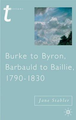 Burke to Byron by Jane Stabler image