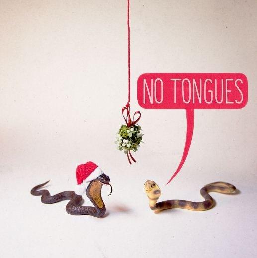 Noi: No Tongues - Greeting Card image