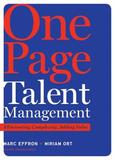 One Page Talent Management by Marc Effron