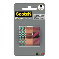 Scotch Expressions: Foil Washi Tape Multi Pack - Copper (15mm x 7m)