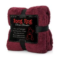 Snug-Rug Sherpa Throw Blanket - Plum