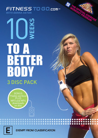 Fitness To Go.com With Donna Aston - 10 Weeks To A Better Body (4 Disc Set) on DVD image