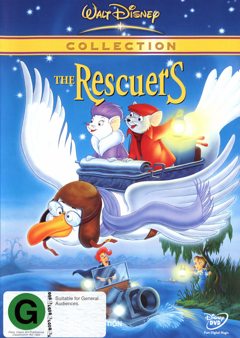 The Rescuers (1977) on DVD image
