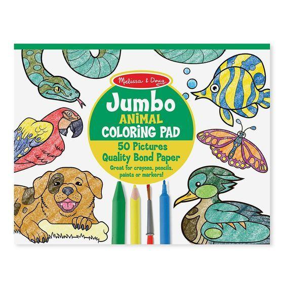 Melissa & Doug: Jumbo Animal Colouring Pad image