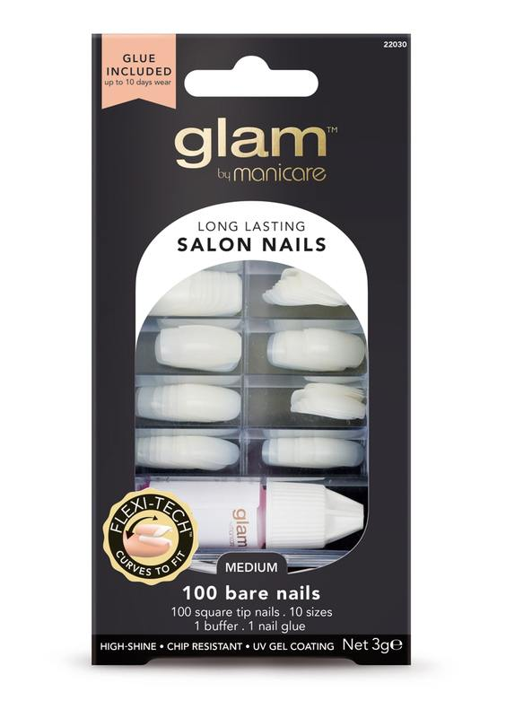 Glam by Manicare - Glue-On Nails Bulk Kit (100 pk)