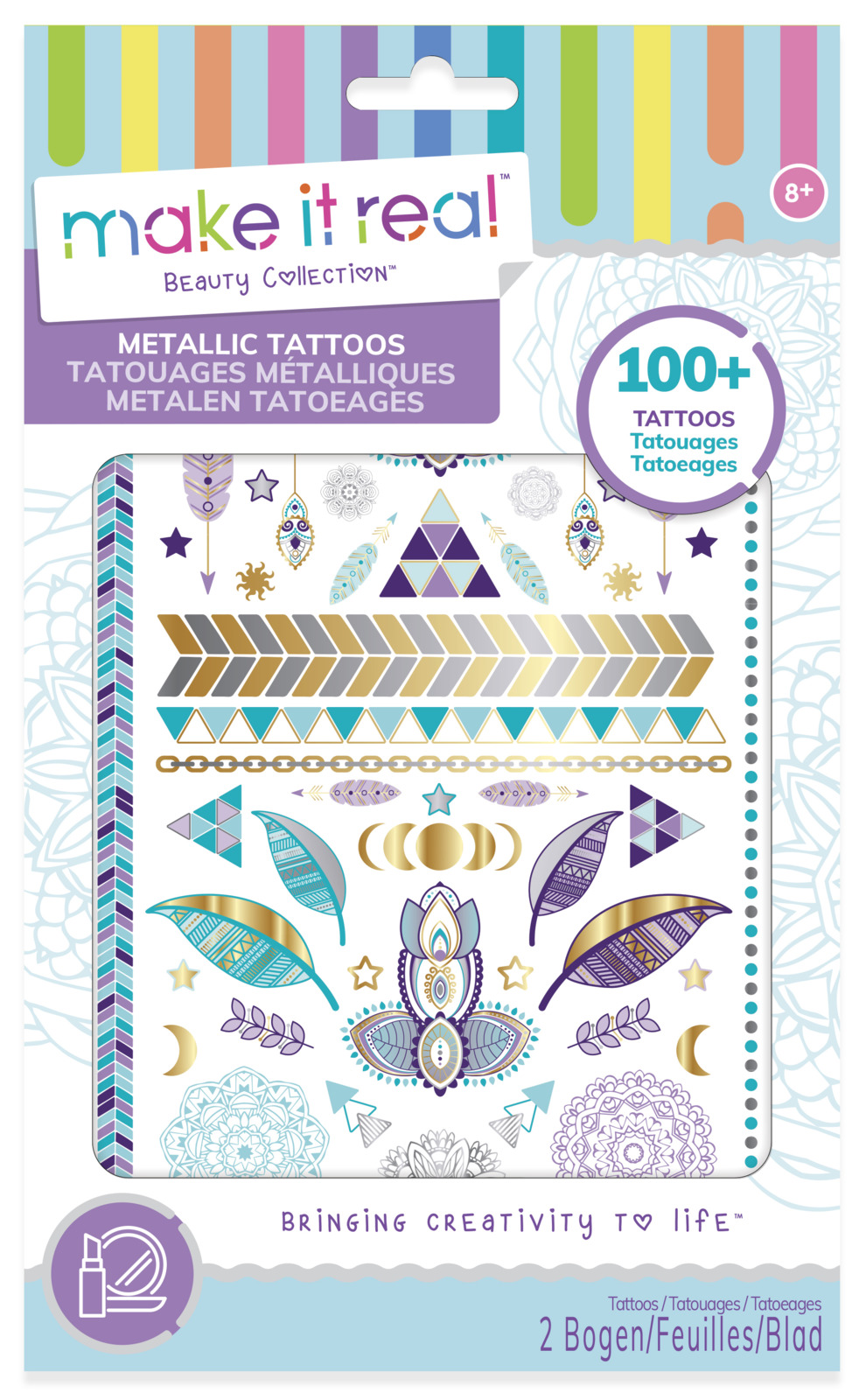 Make It Real: Metallic Tattoos - Purple image