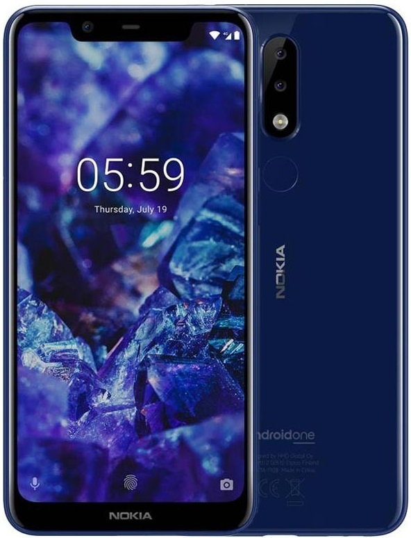 Nokia 5.1 Plus (Dual SIM / 3GB RAM /32GB) - Blue