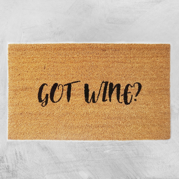Natural Fibre Doormat - Got Wine?
