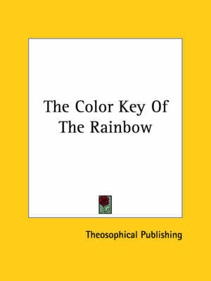 The Color Key of the Rainbow