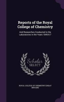 Reports of the Royal College of Chemistry image
