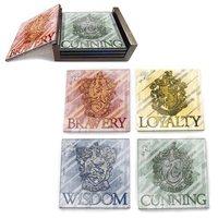 Harry Potter: House Crests - Glass Coaster Set