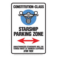 Star Trek - Starship Parking Tin Sign