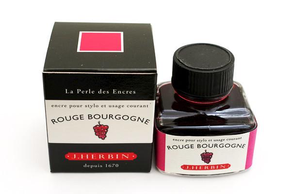 J Herbin: Fountain Pen Ink - Rouge Bourgogne (30ml)