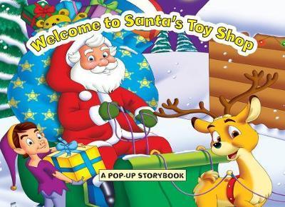 Large Christmas Pop Up Santa's Toy Shop image