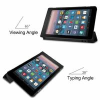 Amazon Kindle Fire 8 Protective Case Leather Magnetic Stand Flip Case Cover Sleep/Wake image