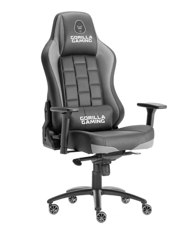 Gorilla Gaming Alpha Prime Chair - Black & Grey for
