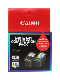 Canon PG640 + CL641 Combo Pack Ink Cartridges image