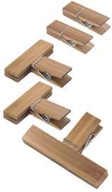 Interdesign: Formbu Bamboo Clips - (Set of 5)