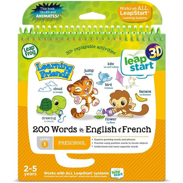 Leapfrog: Leapstart 3D Book - Words With Learning Friends