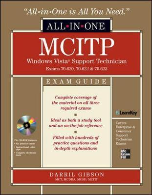 MCITP Windows Vista Support Technician All-in-one Exam Guide: Exams 70-620, 70-622, and 70-623 by Brian Cleary image