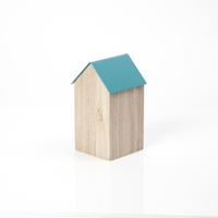 Block Design: Storage House Desk Caddy (Medium Blue)