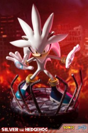 "Sonic the Hedgehog: Silver the Hedgehog - 17.5"" Statue"