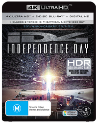 Independence Day on Blu-ray, UHD Blu-ray, UV