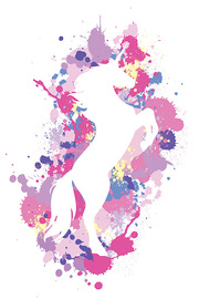 Art Studio Maxi Poster - Splatter Silhouette Unicorn (923)
