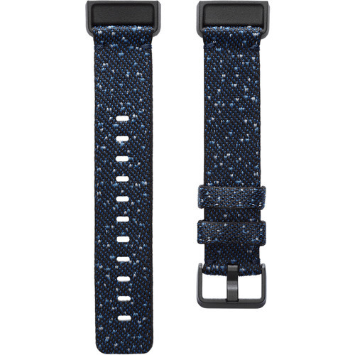 Fitbit: Woven Band for Charge 4 & Charge 3 Trackers - Large (Midnight)