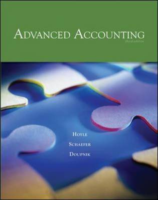 Advanced Accounting by Joe Ben Hoyle