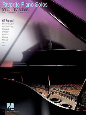 Favorite Piano Solos for All Occasions by Hal Leonard Publishing Corporation
