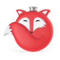 TrueZoo: Novelty Flask - Fox (Red)