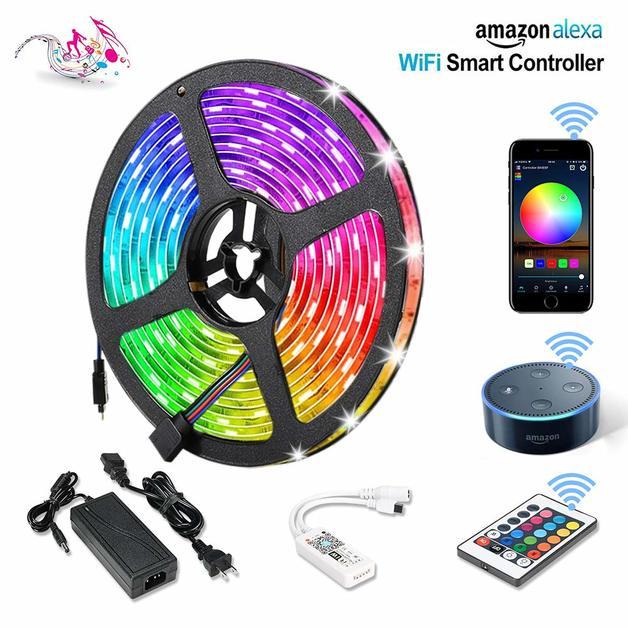 WiFi Wireless Smart Phone Controlled Light Strip - 5 Meters